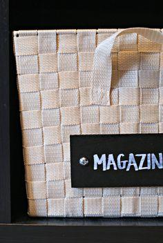 Dimples and Tangles: DIY BASKET LABELS   storage basket bin labels