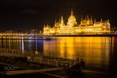 Budapest Night View Parliament - null