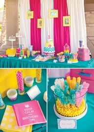 yellow turquoise hot pink room - Google Search