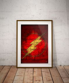 Check out this item in my Etsy shop https://www.etsy.com/ca/listing/520530759/the-flash-symbol-graffiti-style-wall-art