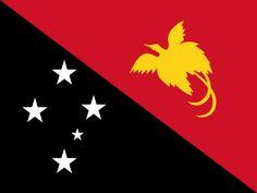 Bandera del Estado Independiente de Papúa Nueva Guinea.