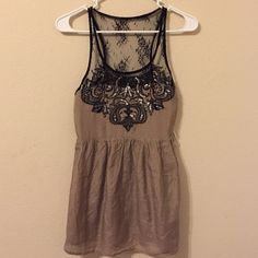 Lace trim miss me top Lace trim Miss Me top. Never worn! Brand new but I Took the tags off :( Miss Me Tops Tank Tops