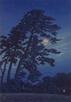 Moon at Magome(1930)  Kawase Hasui
