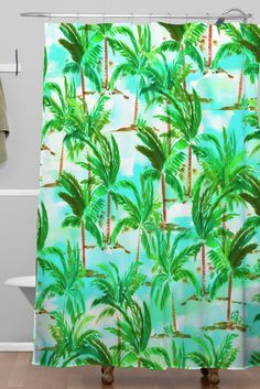 Amy Sia Palm Tree Shower Curtain | DENY Designs Home Accessories