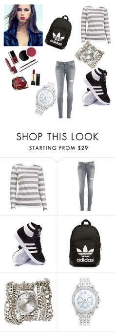 """""""Untitled #96"""" by softic-384 ❤ liked on Polyvore featuring beauty, Dondup, adidas, adidas Originals, Sara Designs and Lane Bryant"""