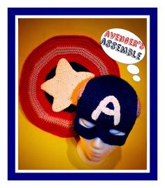 Free Captain America Hat and Shield  Crochet Patterns