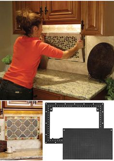 Kitchen Palette... This is a super cool idea to add to any tiled area