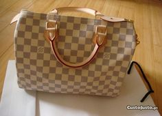 Mala Louis Vuitton Damier Azur speedy