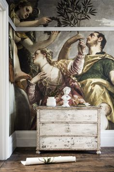 'Allegory of Love, IV' Mural - National Gallery from £210   Shop Canvases & Wall Murals at surfaceview.co.uk