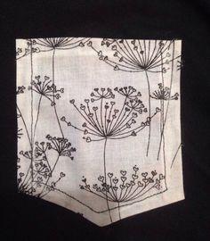 Herz Löwenzahn Druck Kurzarm t-Shirt mit Rundhalsausschnitt Tasche