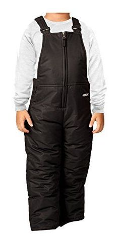 Arctix Toddler Chest High Snow Bib Overalls, 3T, Black ** Find out more details @