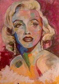 Marilyn-acrilico su tela -100x70