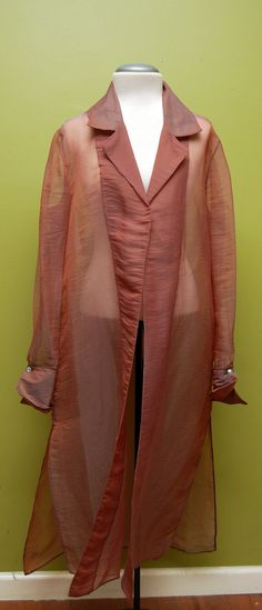 Sheer Purple/Iridescent Robe/Cover Up w/Jewel Button Sleeve Embellishment FREE SHIPPING