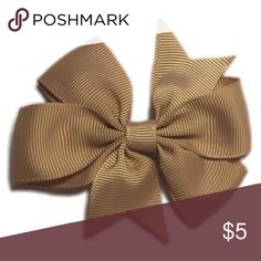 BNWOT $2 Handmade Light Brown Hair Bow 3in long & a little shy of 3in wide, alligator clip, great for any ages, bundle as many color as you want for only $2 each. Accessories Hair Accessories