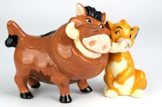 Pumbaa and Simba- Salt & Pepper Shakers, would love these.