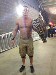 John Cena - People wonder why I watch Wrestling...Seriously look at his physique! rawr!