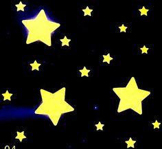 Csillagok, éjjel világító polifoam falmatrica