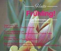 Rezepte mit ätherischen Ölen für den Frühling. Neutral, Motivation, Fit, Peppermint, Good Mood, Recipies, Shape, Inspiration