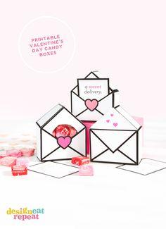 imprimibles cajas divertidas e interactivas del día de San Valentín del caramelo - descargar gratis!