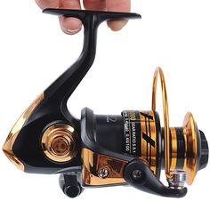 Fishing Reels Metal Body Spinning Reel 50M Line Copper Rod Rack Drive Fish Tools