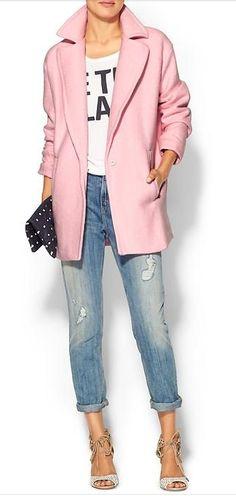 blush longline coat