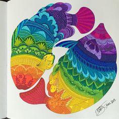 Millie Marotta's Animal Kingdom / DWB 2015 / my gallery #milliemarotta #animalkingdom #adultcoloring