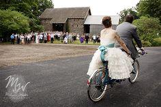 Sharon & Mike's outdoor tandem bike wedding (with secret second ceremony)   Offbeat Bride