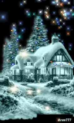 Free Online Image Editor create your own animated gifs resize crop avatars and images. Christmas Scenery, Blue Christmas, Country Christmas, Christmas Pictures, Beautiful Christmas, Winter Christmas, Vintage Christmas, Xmas, Merry Christmas