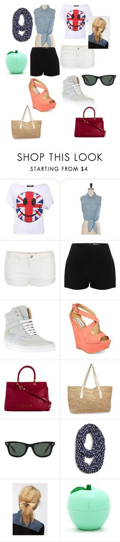 """Sem título #490"" by bruninhac ❤ liked on Polyvore featuring Topshop, Alexander McQueen, MM6 Maison Margiela, Steve Madden, Marc by Marc Jacobs, Ray-Ban, Sperry and Eva NYC"