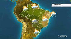 Previsão Brasil - Chuva volumosa em SP, MS, SC e PR