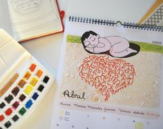 Calendario Ilustrado Celebrando Crecer los 365 días. por Ojoshojas