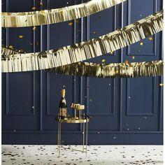 Gold Foil Fringe Garland Decoration
