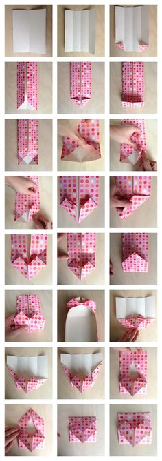 How to make an origami heart envelope for secret notes or to use as a valentine envelope!