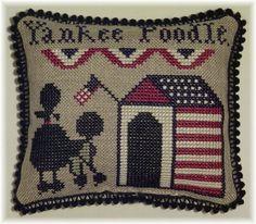 Yankee Poodle - Plum Street Samplers Freebie