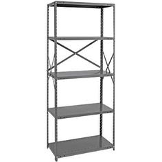 Quantum Heavy-Duty 18-Gauge Industrial Steel Shelving - 5 Shelves, 36in.W x 30in.D x 75in.H, Model# 18G-75-3036-5 by Quantum. $224.99. Customized to your special needs, these heavy-duty Quantum steel shelving units have been engineered to adapt to your storage requirements. Ideal for stockroom, factory or office where extra storage is needed. Posts (Qty.): 4, Shelf Thickness (gauge): 18, Shelves (qty.): 5, Shelf Capacity (lbs.): 700, Color: Gray, Height (in.): 75,...