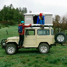 topo-designs:  Topo Designs - On our recent Topo trip to Telluride, we made a pit stop to see the scapes off-road. Our incredibly passionate friend Alex collects rare and vintage Landcruisers and coverts them to campers with biodiesel engines. We were such happy campers riding around in the mud and rain.