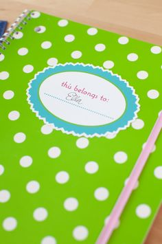 Print then Cut This Notebook Belongs To project with Printable Sticker Paper