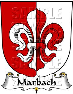 Marbach Family Crest apparel, Marbach Coat of Arms gifts