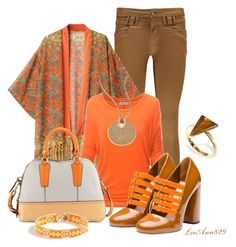 """""""style it in orange  contest"""" by leeann829 ❤ liked on Polyvore featuring Boohoo, Doublju, Miu Miu, Oryany, Michael Kors, J.Crew and Ona Chan"""