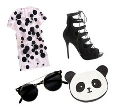 """PANDA pAnDa panda"" by mimi-r-c on Polyvore featuring mode, Paskal, Alexander McQueen et Forever 21"