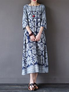 Cheap mori girl dress, Buy Quality long dress directly from China cotton long dress Suppliers: ilstile 2017 Vintage Women's Floral Printed Sleeve Cotton Long Dress Autumn Casual Loose Mori Girls Dress Kaftan Ny Dress, Blouse Dress, Maxi Dress With Sleeves, Dress Lace, Sequin Dress, Linen Dresses, Women's Dresses, Floral Dresses, Dresses Online