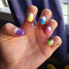 Colorful Glitter! #NailPolishAddict #DIYMani #Nails #NailPolish #Manicure #Mani #Esmalte #EsmaltedeUñas #Uñas #NailArt #NailCreation #ILoveNails #Glitter #Colors #misfitznails