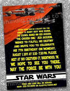 Star Wars Invitation - Birthday- DIY Printable Inspired by Star Wars by Amanda's Parties To Go
