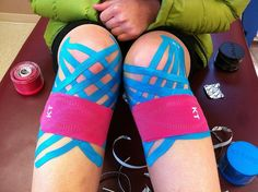 Whitman Cycling uses KT Tape Pro for knees Running Posters, Running Humor, Girl Running, Running Motivation, Running Workouts, Running Gear, Roller Derby, K Tape, Running Medals