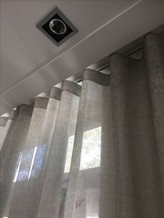 Ripple/ Wave/ U track? Beautiful Dorm Room, Curtain Decor, Ceiling Curtains, House, Home Curtains, Blinds And Curtains Living Room, Interior Design Curtains, Ripplefold Curtains, Curtains With Blinds