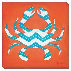 graphic wall art - crab