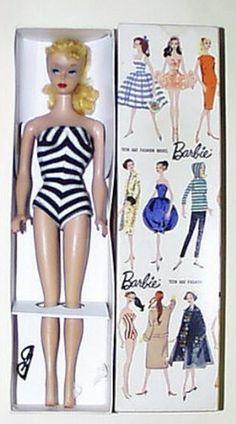 vintage Barbie - retail price in 1959 $2.98