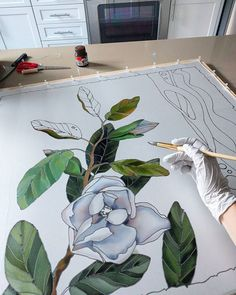 #process #workinprogress #silkpainting #paintingonsilk #scarf #silkscarf #mybatik #followme #art #artist
