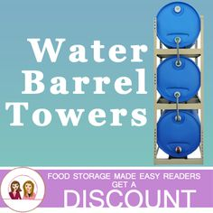 Easy to fill, rotate, and use your emergency water storage. Save space and time. Awesome idea with a special discount