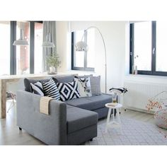 IKEA friheten. Living room inspiration! CUSHIONS!